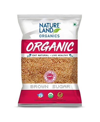 Natureland Organics Brown Sugar 1 Kg (Pack of 2) Total 2 Kg - Organic Sugar