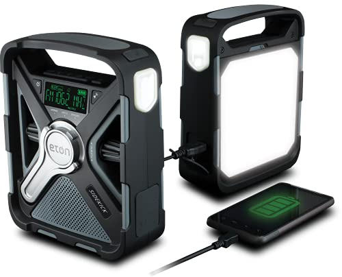 Eton Ultimate Camping Am/FM/NOAA Radio w/ S.A.M.E Technology, Phone Charger, Bluetooth, Ambient Light & Solar Panel