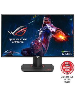 ASUS ROG PG279Q 27' Gaming Monitor, 1440P WQHD (2560 x 1440), IPS, 165Hz, G-SYNC, EyeCare, DisplayPort Adjustable Ergonomic (Above 144Hz)