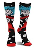 elope Dr. Seuss Thing 1&2 Costume Knee High Socks Black