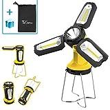 TeSecu Lanterne de Camping, 2 en 1 Lampe Camping LED Banque de Puissance Lampe Travail Pliante Portable COB 8...