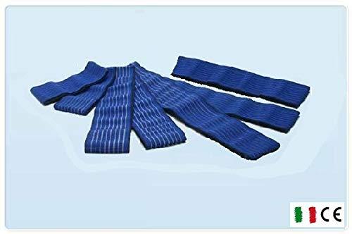 7 fasce elastiche velcro fiab universali elettrostimolazione elettrodi fasciature 2x40cm; 2x60cm;...