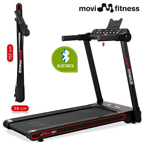 Movi Fitness Tapis roulant Professionale MF297, Pieghevole salvaspazio, Bluetooth,App Fitshow,Motore...
