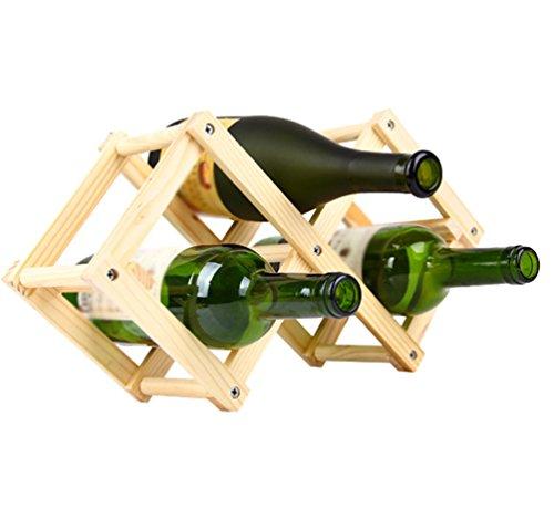 Zhiyuanan Moderno Casa Scaffale Vino Robusta Durevole Mensole Vino Pieghevole Creativa Massello...