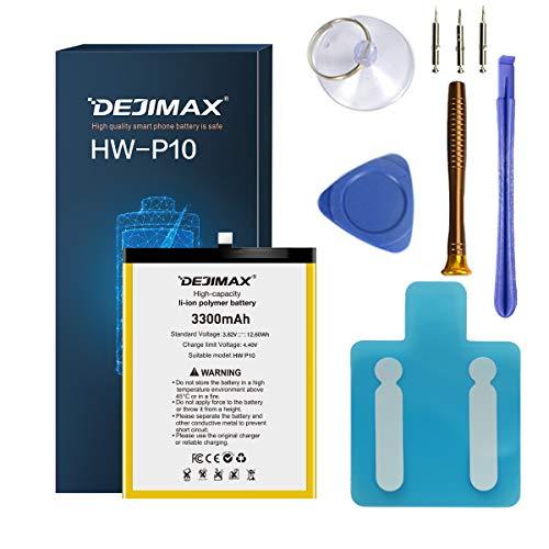 DEJIMAX 3300mAh Akku für Huawei P10 / Honor9, 3300mAh Hochleistungs Li-Ionen-Ersatzbatterie mit Werkzeug und Reparatursatz