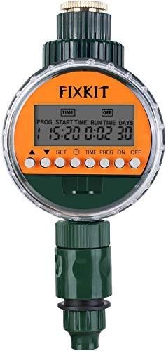 FIXKIT digitalem Bewässerungsprogramm Bewässerungsuhr mit wasserdichtem Schutzdeckel (IP67) Garten Zeitschaltuhr Bewässerung (Bewässerungscomputer)