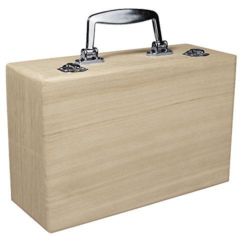 Rayher Hobby 6158000 scatola di legno con manico in plastica, 25x16x9cm