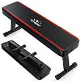 FLYBIRD Flat Weight Bench Exercise Bench Foldable for Strength Training, 1000 LBS Weight Capacity