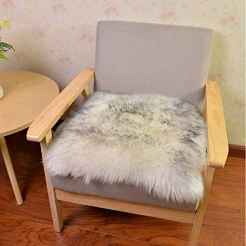 Soft Sheepskin Chair Cover Warm Hairy Carpet Seat Pad Plain Skin Fur Plain Fluffy Area Rugs
