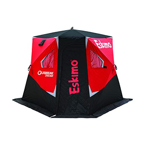 Eskimo Outbreak 250XD Pop-up Portable Insulated Ice Fishing Shelter, 51 sq ft. Fishable Area, 2-3...