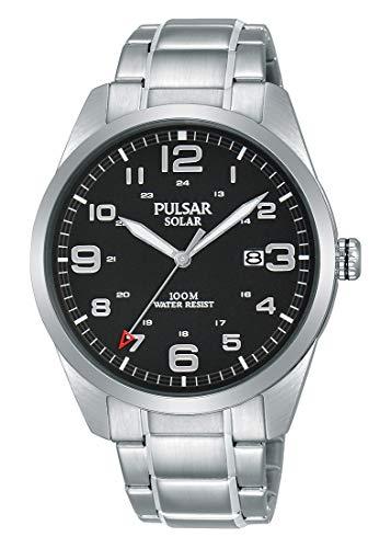 Pulsar Solar Herren-Uhr Edelstahl mit Metallband PX3187X1