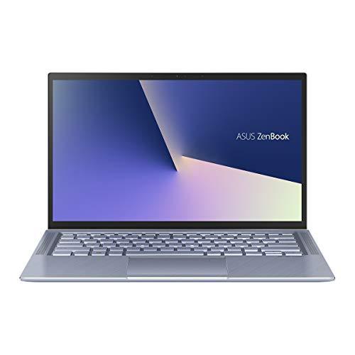 "ASUS ZenBook 14 UX431FA-AM132T - Portátil de 14"" FullHD (Intel Core i5-10210U, 8GB RAM, 512GB SSD, Intel UHD, Windows 10) Metal Azul Plata - Teclado QWERTY Español"