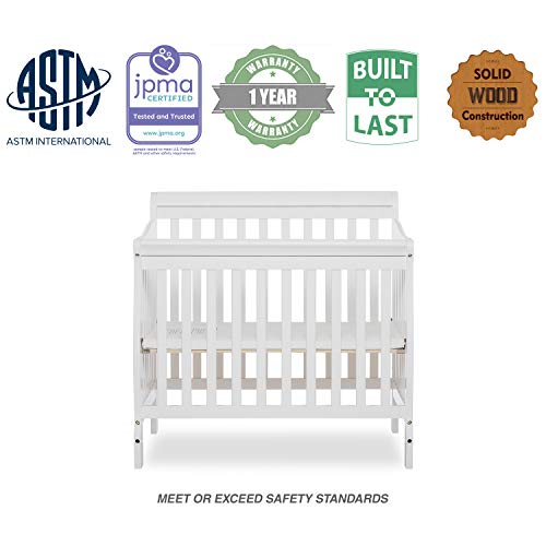 Product Image 6: Dream On Me Aden 4-in-1 Convertible Mini Crib in White, Greenguard Gold Certified