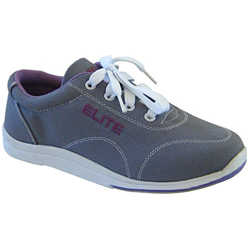 Elite Casual Bowling Shoes - Womens 8 Grey