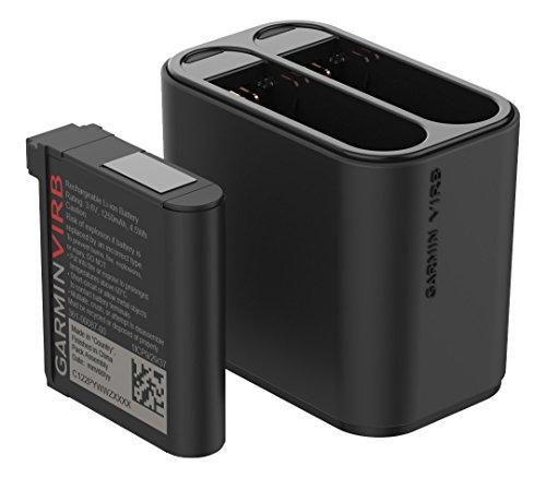 Garmin VIRB Ultra Kit Caricabatterie Doppio da Viaggio e Batteria, Nero