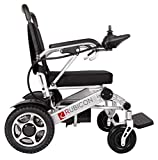 ComfyGO Electric Power Wheelchair Scooter Fold & Travel Lightweight Folding Safe Electric Wheelchair Motorized Aviation Travel Heavy Duty Power Wheelchair (Silver)