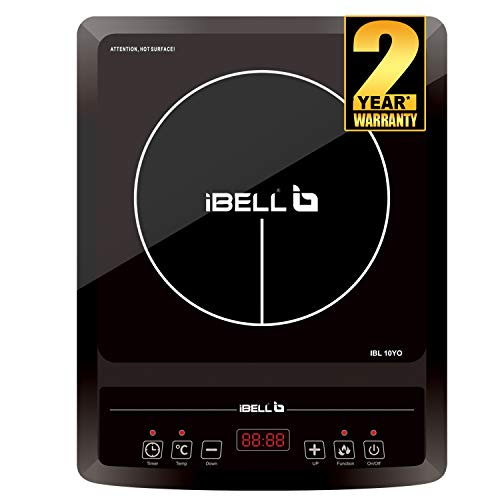 Induction cooktop with press button control and High quality crystal glass|Certified by Bureau of Indian Standards (IS 302-2-6 : 2009) Super wide voltage adaptability and with multifunctions Auto shutoff safety protection and Overheat protection High...