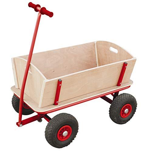 Izzy Bollerwagen Holz Kinder Luftreifen 100kg für alle...