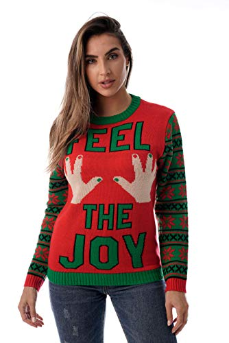 #followme Womens Ugly Christmas Sweater - Sweaters for Women 6773-223-L