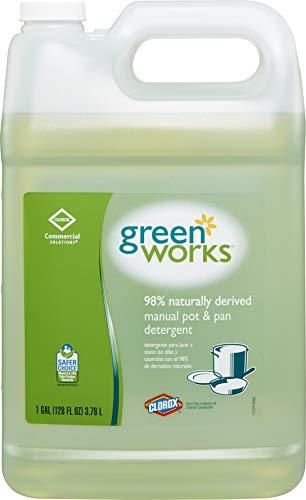 Clorox Commercial Solutions Green Works Manual Pot & Pan Dishwashing Liquid, 128 Ounces (30388)