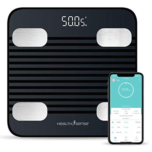 HealthSense Fitdays BS 171 Smart Bluetooth Body Weighing Scale | Digital Fitness Weight Machine with...