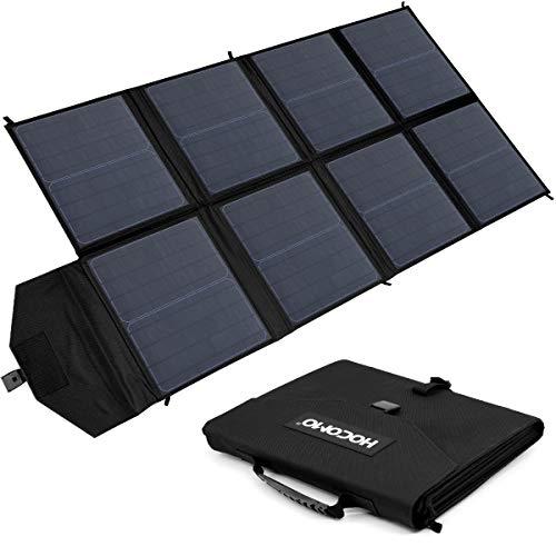 Aurho HOCOMO 100W Foldable Solar Panel Charger for Suaoki Portable Generator / 8mm Goal Zero Yeti Power Station/Jackery Explorer 240, Webetop Battery Pack/USB Devices, with 3 USB Ports