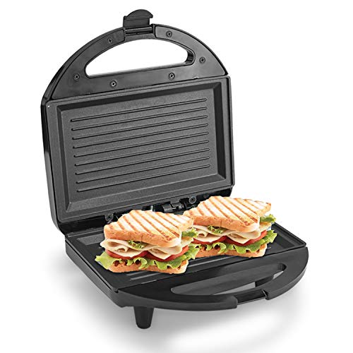 Lifelong LLSM120G Sandwich Griller , Classic Pro 750 W with 4 Slice Non-Stick Fixed Plates for...