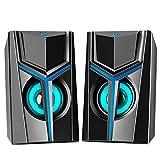 MTQ Altavoces PC Sobremesa, Bocinas PC Gamer, Altavoz 2.0 USB 10W Gaming de Ordenador...