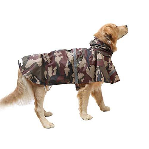KoKoBin Cappottino Catarifrangente per Cani con Cappuccio Ultraleggero Traspirante Impermeabile per Cani di Media e Grande Taglia(Marrone, M)