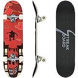 STREAKBOARD Planche à Roulette, 80 x 20 cm Skateboard Imprimée Amusante,...