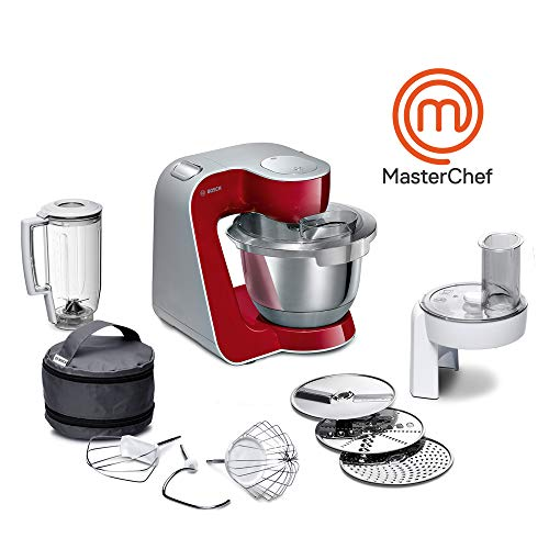 Bosch MUM58720 Macchina da Cucina, Acciaio Inossidabile, 1000 W, 3.9 Litri, Inox e Plastic, 7...