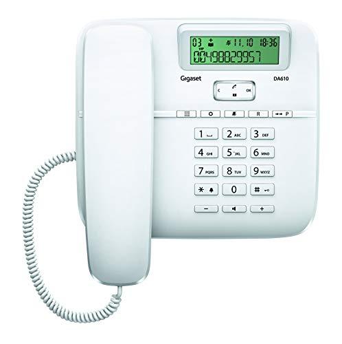 Gigaset DA610 Telefono Fisso, Vivavoce, Bianco...