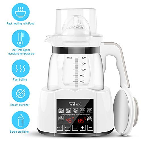 Baby-Bottle-Warmer-Steam-Sterilizwer-Water-Kettle-Milk-Adjuster-Multifunction-Bottle-Warm-Milk-Intelligent-Thermostat-Food-Heater-LED-Display-Heating-Adjustment-Boiling-and-Dechlorination