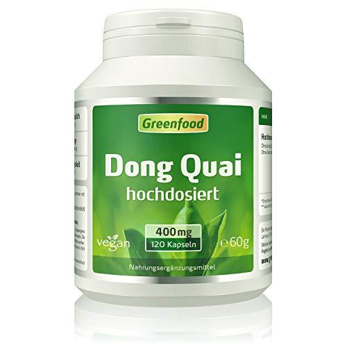 Greenfood Dong Quai, 400 mg, hochdosierter Extrakt (10:1), 120 Vegi-Kapseln – OHNE künstliche Zusätze, ohne Gen