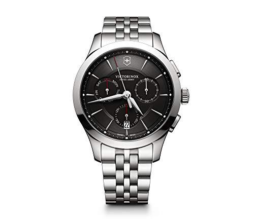 Victorinox Herren Alliance Chronograph Quarz Uhr mit Edelstahl Armband 241745