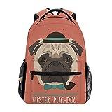 Bolso Lindo del Ordenador portátil del Hombro del Viaje del Bookbag de la Escuela de la Mochila del Perro del Barro Amasado para los Hombres de Las Mujeres