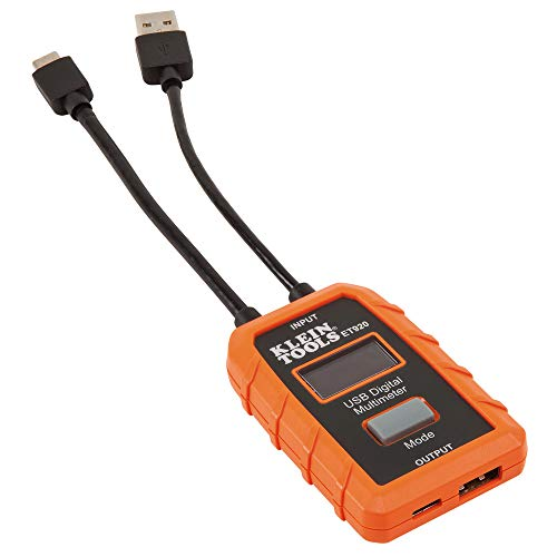 Klein Tools ET920 USB Power Meter, USB-A and USB-C...