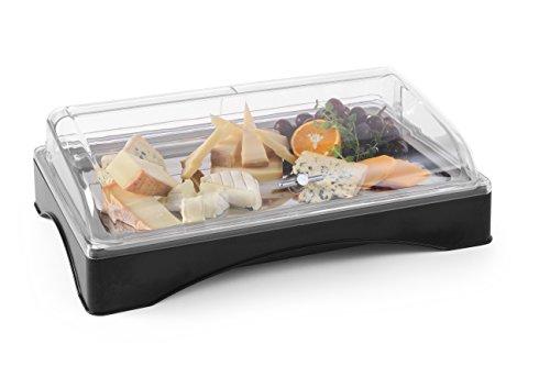 Hendi 424186 Vassoio con Piastra Refrigerante Rolltop, Gastronorm 1/1