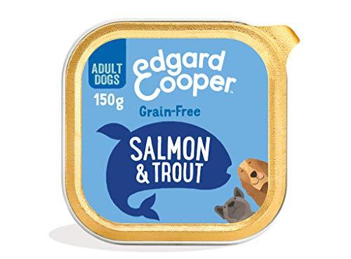 Edgard & Cooper Comida Humeda Perros Adultos Natural Sin Cereales, Latas 11x150g Salmon y Trucha Frescos, Fácil de digerir, Alimentación Sana Sabrosa y equilibrada, Proteína