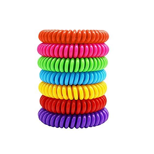 7 Pack Bracelet Anti Moustique Enfant Adulte, Plantes Bracelet Anti...