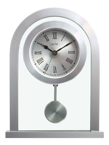 Acctim 200 x 165 x 50 mm Bathgate Glas-Kaminuhr mit Pendel, Silber