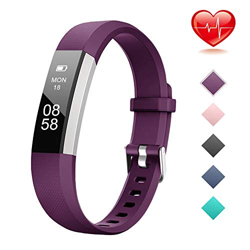 Lintelek Fitness Tracker for Kids Girls Boys Teenagers, Activity Tracker with Heart Rate Monitor, IP67 Waterproof Step Counter, Calorie Counter, Pedometer, Kids Gift