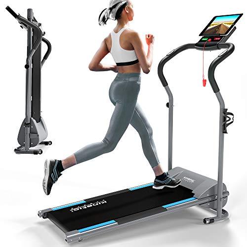 Kinetic Sports KST2500FX Laufband klappbar elektrisch flach leiser Elektromotor 500 Watt bis 120 kg, GEH- und...