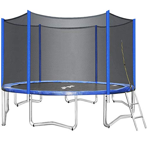 JUPA Trampoline 15 14 12FT, Maximum Weight Capacity 375LBS, 2020 Upgraded Safe Recreational Trampolines with Enclosure Net Jumping Mat Safety Pad for Backyard(15ft