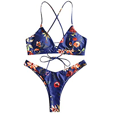 Please refer to the size information before purchasing or contact us directly if any question.Please allow 1-3cm differs due to manual measurement, thanks Material:Polyester,Spandex ,Smooth skin-friendly fabric bikini swimsuit sets are very stretchy,...