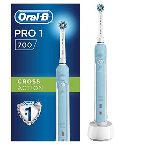 Oral-B PRO1 700 Brosse à Dents Électrique Rechargeable, 1Brossette