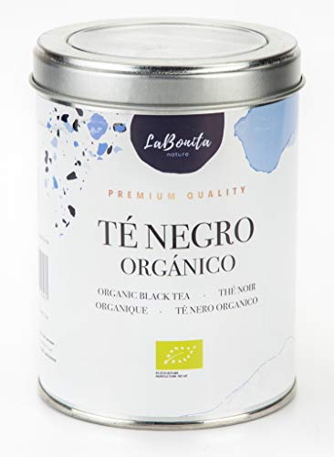 LaBonita Nature, Té Negro Orgánico, Antioxidante, Lata 100g