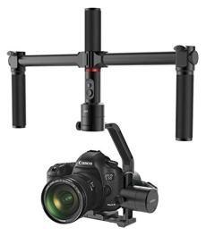 Moza - Estabilizador de cámara de Aire (3 Ejes, con Doble empuñadura de Mano, videocámara DSLR Gimbal de 7,1 LB de Carga útil, 12 h)