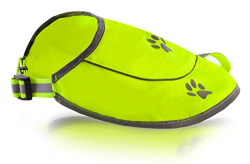 Dog Safety Reflective Vest - Waterproof, Yellow or Orange for Best Visibility. Adjustable Sizes.