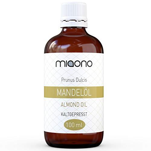 Mandelöl (100ml) - 100% reines kaltgepresstes Öl in einer Glasflache von...